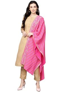 Picture of Beige Colored Designer Readymade Suit