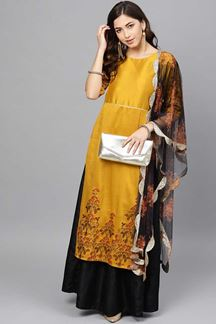 Picture of Sizzling Mustard Yellow Colored Designer Suit