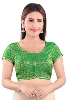 Picture of Pretty Green Colored Designer Blouse
