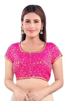 Picture of Boldly Pink Colored Half sleeves Blouse
