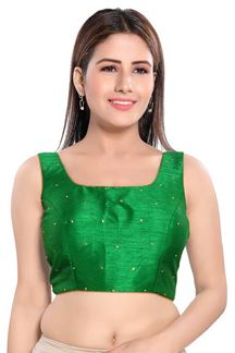 Picture of Sleeves Green Colored Readymade Blouse