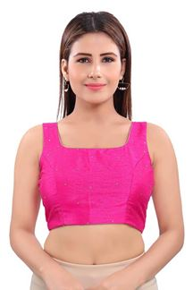 Picture of Graceful Pink Colored Readymade Blouse