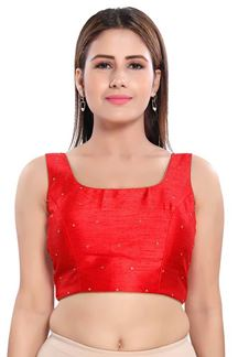 Picture of Bright Looking Red Colored Readymade Blouse