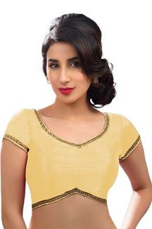 Picture of Bright Looking yellow Colored Readymade Blouse