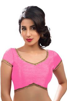 Picture of Stylish Light Pink Colored Readymade Blouse