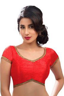 Picture of Beautified Red Colored Readymade Blouse