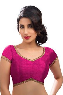 Picture of Designer Magenta Colored Readymade Blouse