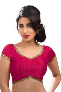 Picture of Manifest Rose Pink Colored Readymade Blouse