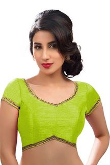 Picture of Glowing Pista Green Colored Readymade Blouse