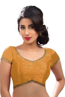 Picture of Gleaming Rose Gold Colored Readymade Blouse