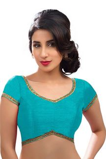 Picture of Flaunting Sky Blue Colored Readymade Blouse