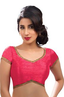 Picture of Mesmeric Pink Colored Readymade Blouse