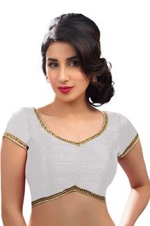 Picture of Paix White Colored Readymade Blouse