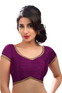 Picture of Stunning Wine Colored Readymade Blouse