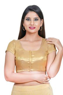 Picture of Vibrant Copper gold Colored Readymade Blouse