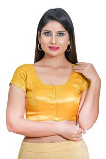 Picture of Vibrant Yellow Colored Readymade Blouse