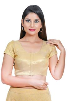 Picture of Vibrant Cream Colored Readymade Blouse