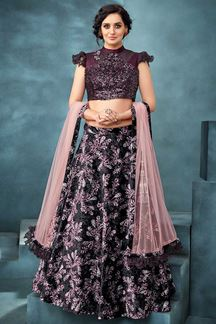 Picture of Sparkling Wine Colored Designer Lehnega Choli