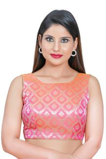 Picture of Pink Colored Readymade Blouse