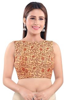 Picture of Manifest Gold  Colored Readymade Blouse