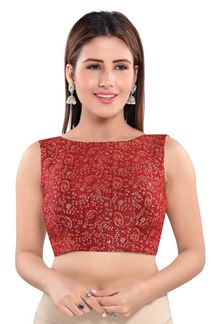 Picture of Gleaming Maroon Colored Readymade Blouse