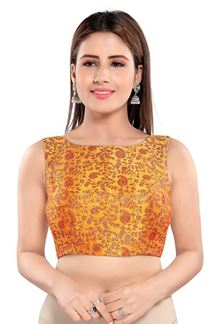 Picture of Flaunting Mustard Colored Readymade Blouse