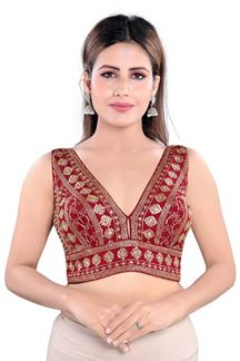 Picture of Maroon Colored Readymade Blouse
