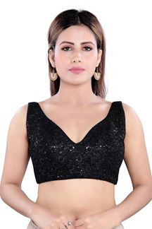 Picture of Dazzling Black Colored Readymade Blouse