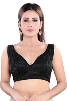 Picture of Designer Black Colored Readymade Blouse