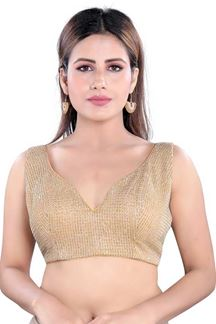 Picture of Mesmeric Gold Colored Readymade Blouse