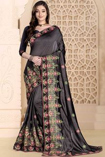 Picture of Mesmeric Black Colored Saree