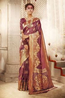 Picture of Flaking Maroon Colored Designer Saree