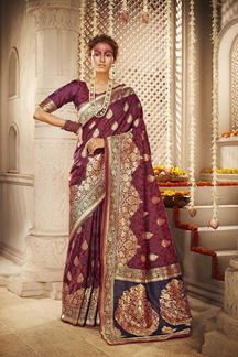 Picture of Classy Maroon Colored Designer Saree