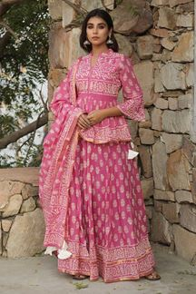 Picture of Prettified Pink Colored Lehenga Choli