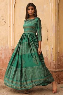 Picture of Gleaming Green Colored Designer Kurti