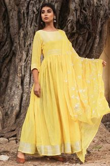 Picture of Magnified Yellow Colored Readymade Kurti