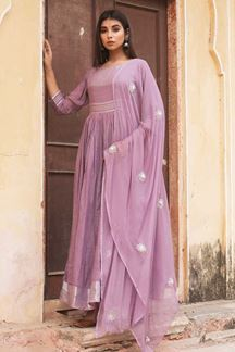 Picture of Classified Purple  Colored Readymade Kurti
