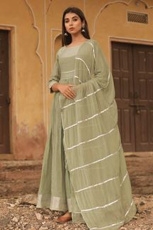 Picture of Green Colored Readymade Kurti