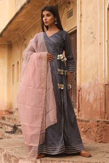 Picture of Subtle Grey Colored Readymade Kurti