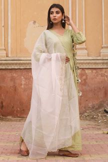 Picture of Traditional Olive Colored Readymade Kurti