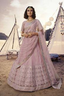 Picture of Exuberant Baby Pink Color Designer Lehenga Choli