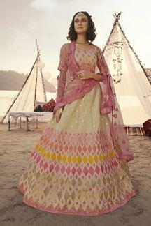 Picture of Mesmeric beige Color Designer Lehenga Choli