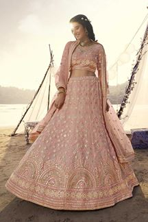 Picture of Smacking Peach Designer Lehenga Choli