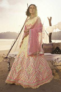 Picture of Boldly Off- white Designer Lehenga Choli