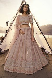 Picture of Grooving Peach colored Designer Lehenga Choli