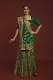 Picture of Beautiful Green colored Designer Saree