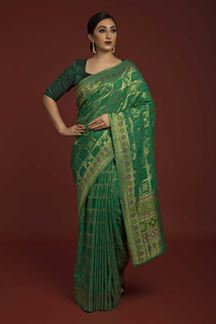 Picture of Designer Green colored Saree