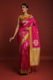 Picture of Manifested Pink colored Designer Saree