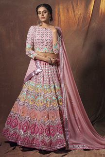 Picture of Enriching Pink Colored Designer Lehenga Choli