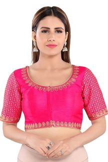 Picture of Trendy Pink Colored Readymade Designer Blouse
